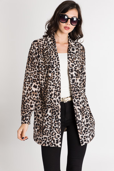 Living in Leopard Cardi