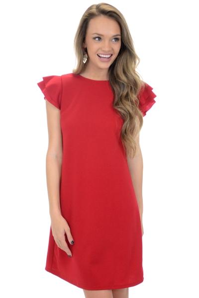 Spring Sonnet Dress, Red