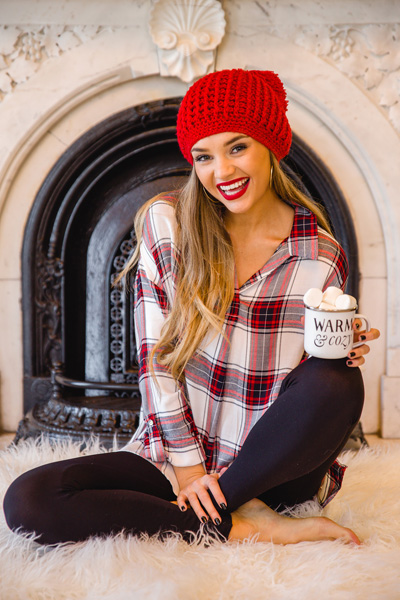 Perfectly Plaid Tunic, Red