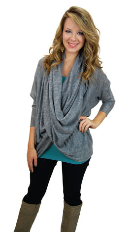 Beyond Comfy Sweater, Grey