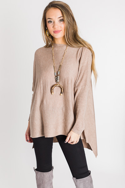 Basic Bliss Sweater, Taupe