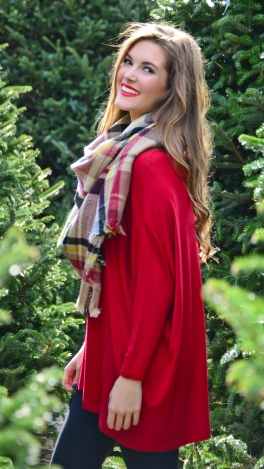 Slouchy Caftan, Red