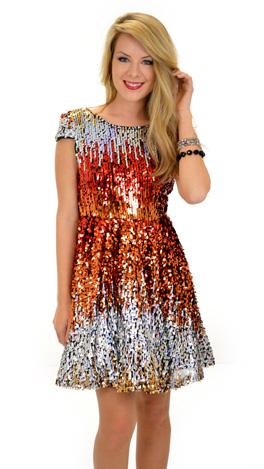 Catching Fire Sequin Dress