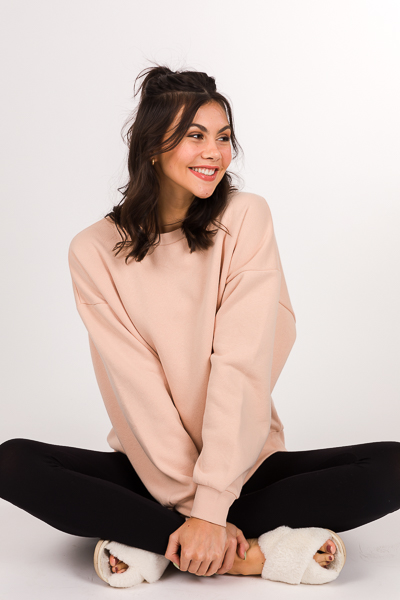 Casual Day Sweatshirt, Blush