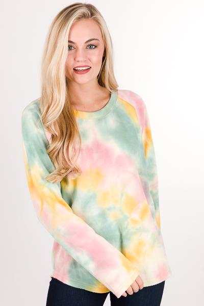 Cotton Candy Raglan Sweatshirt