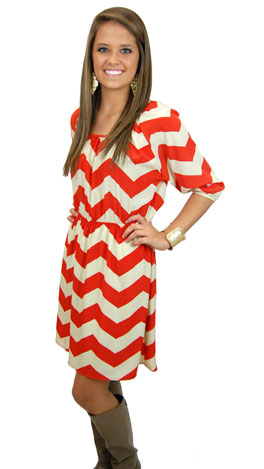 Everest Dress, Orange / Red