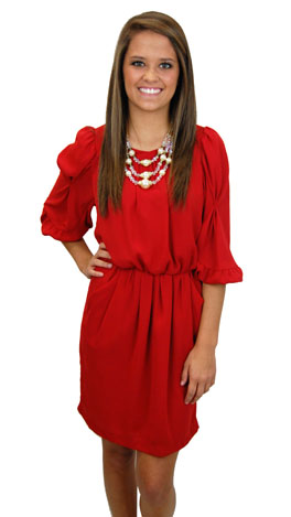 Red-y To Go Dress