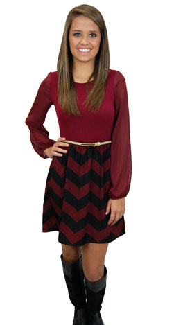 Sadie Dress, Red