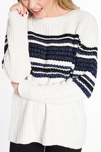 Varsity Chenille Sweater