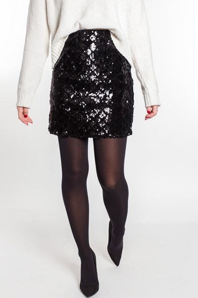 Queen of Diamonds Sequins Skirt