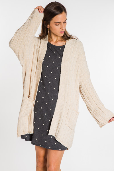 Cozy Up Chenille Cardi, Almond