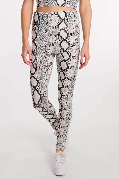 Soft Snake Leggings, Grey