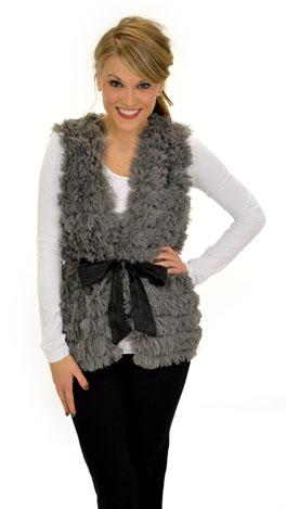 Fuzzy Wuzzy Vest, Grey