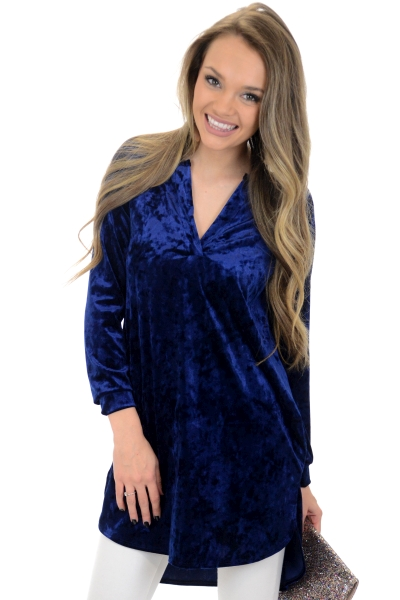 Party Starter Tunic, Navy