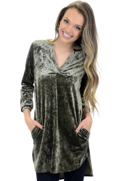 Party Starter Tunic, Olive