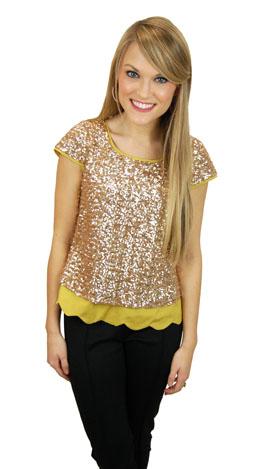 Glitter N Gold Top