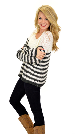 Go The Extra Mile Sweater, Cream