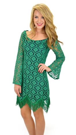 Evergreen Shift Dress