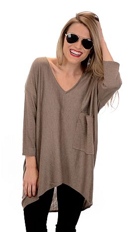Coal Miner Sweater, Taupe