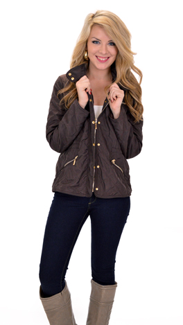 Classic Quilted Jacket, Brown