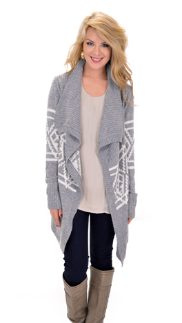 Thick as Thieves Cardi, Gray