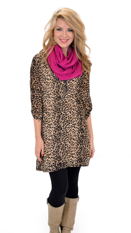 Simple Leopard Dress