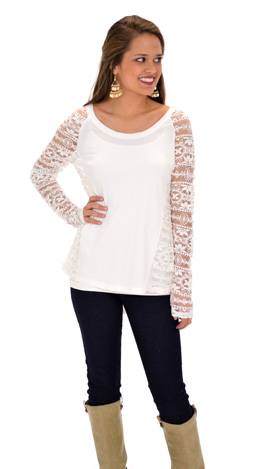Panels of Lace Top