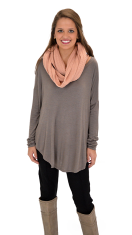 Let Loose Tee, Taupe