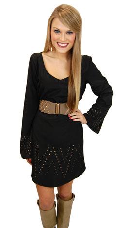 Stud Muffin Dress, Black