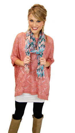 Pillow Talk Sweater, Coral