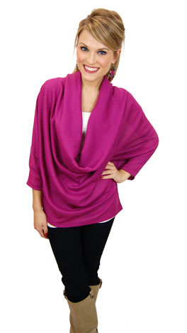 Curtain Call Top, Magenta