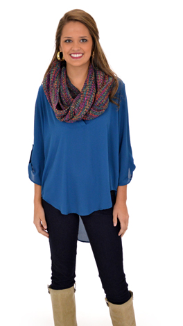 Simply the Best Top, Teal
