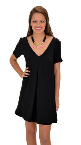 Hide and Chic Dress, Black