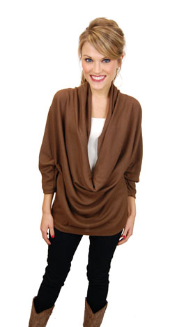 Curtain Call Top, Brown