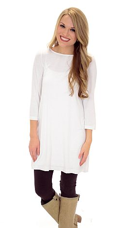 Best Basic Tunic, White