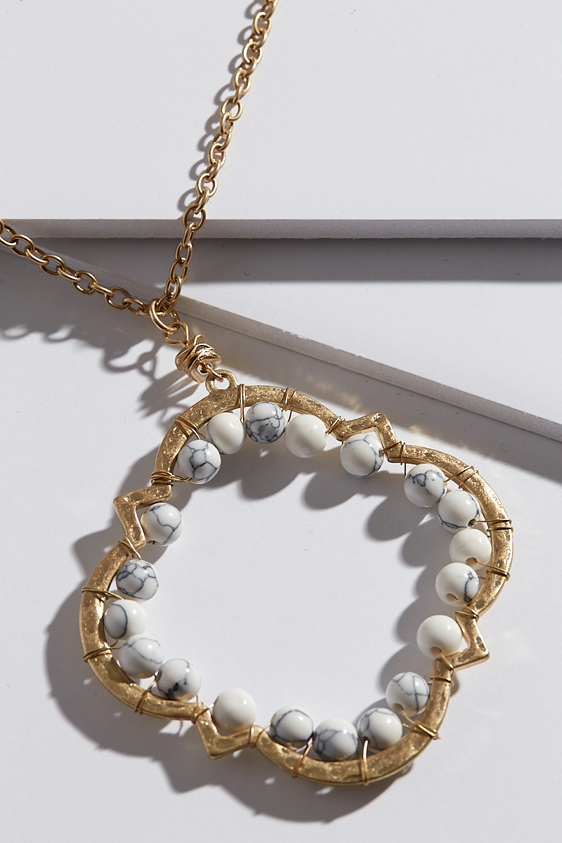 Mad for Marble Necklace