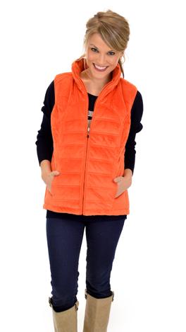 Reversible Vest, Orange