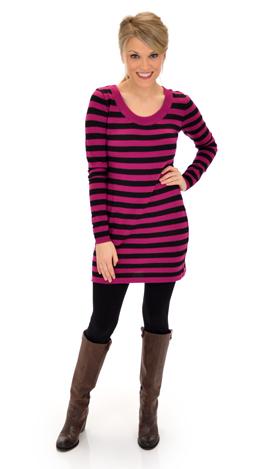 Alli Sweater, Pink Black