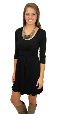 Here's a Quarter Dress, Black