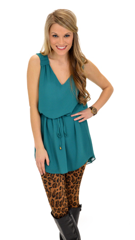 No Doubt Frock, Teal