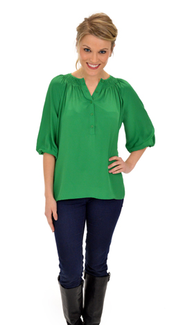 Solid Kelly Blouse