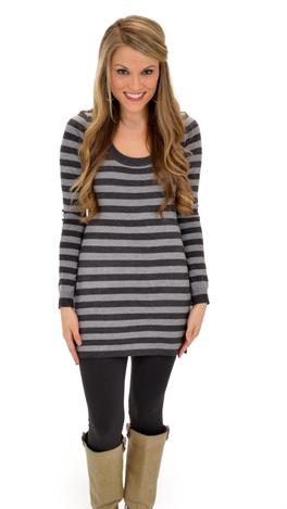 Alli Sweater, GrayStipes