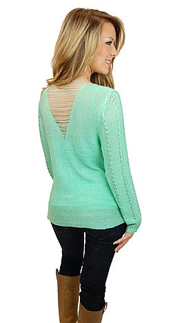 String Back Sweater