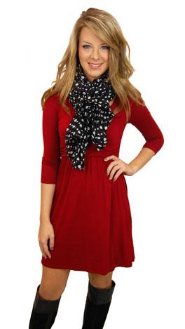 Here's a Quarter Dress, Crimson