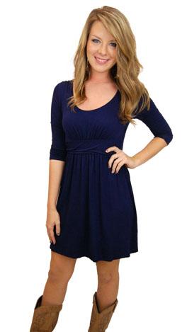 Here's a Quarter Dress, Navy
