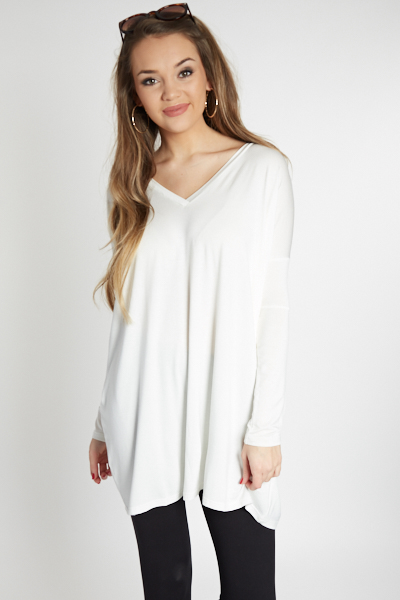 Piko Boxy V Tunic, Off White