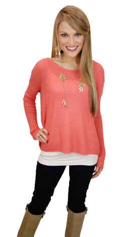 Dusty Coral Sweater