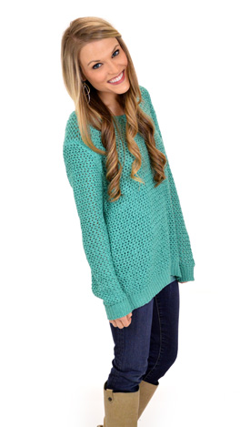 Teal I See You Sweater