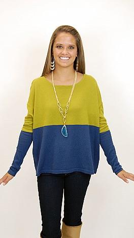 Border Line Sweater Top