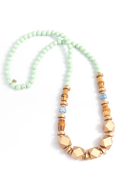 Rio Beaded Necklace, Aqua